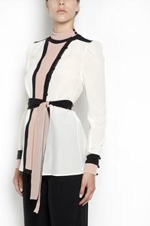 VALENTINO Silk three colors shirt with belt