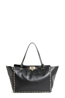 VALENTINO GARAVANI 'Rockstud' medium studded leather handbag with strap