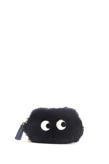 ANYA HINDMARCH shearling coin pourse with eyes