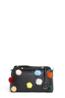 """FENDI """"By The Way"""" hand bag with shoulder strap and pom pom multicolor in the front"""