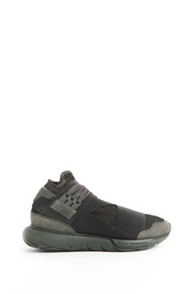 "Y-3 ""Qasa olive"" sneaker with elastic bands in front"