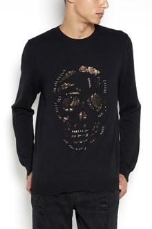 ALEXANDER MCQUEEN 'Piercing skull' cashmere crew-neck cardigan