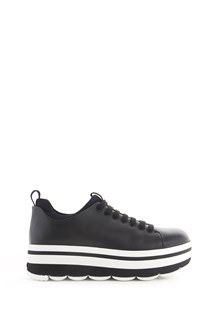 PRADA LINEA ROSSA 'Wave' leather shoes with platform