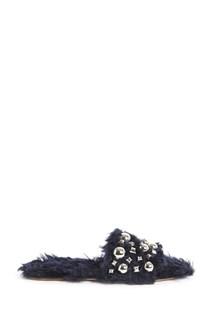MIU MIU Eco-friendly studded slippers