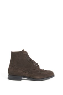 """CHURCH'S leather """"renwick"""" ancke boots with embroidery"""