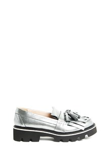 """MSGM leather """"loafer"""" slippers with tassels"""