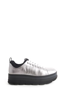 PRADA LINEA ROSSA leather sneaker with platform