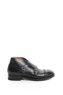 SILVANO SASSETTI 'Goodyear flex' leather shoes with double buckle