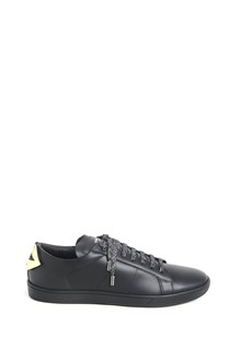"SAINT LAURENT ""court classic"" sneaker with gold mouth back"