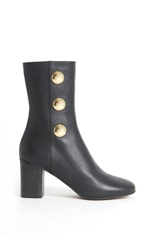 CHLOÉ 'Orlando' leather booties with gold buttons on the side