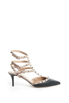 "VALENTINO GARAVANI ""Rockstuds"" decollettè with buckles and studs"