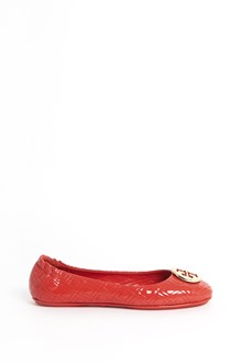 TORY BURCH 'Marion' patent leather flats with gold logo