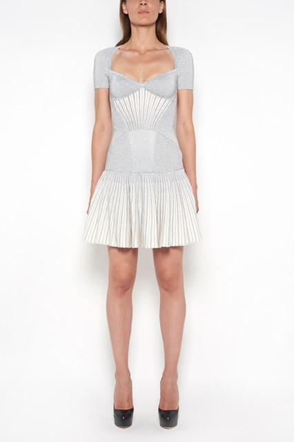 ALEXANDER MCQUEEN Heart-neck dress