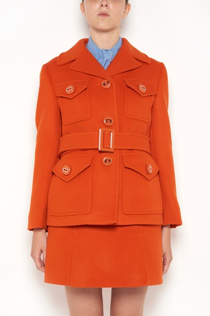 PRADA Jacket with belt and buttons