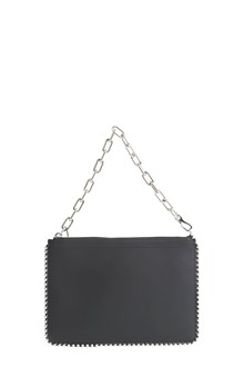 "ALEXANDER WANG lamb leather ""attica"" pochette with chain ball and studs"