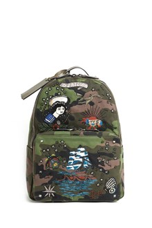 "VALENTINO GARAVANI ""canvas"" backpack with tattoo details"