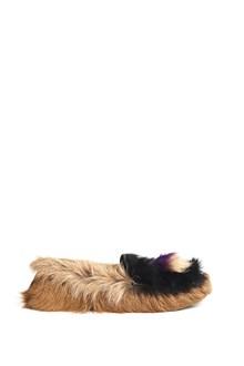 PRADA fur slipper with tassel