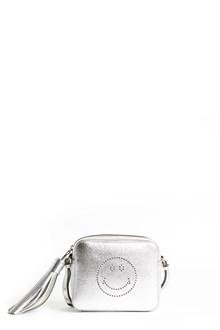 ANYA HINDMARCH Crossbody 'Smiley' metallic leather bag