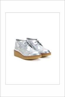 STELLA MCCARTNEY KIDS Wedge silver sneaker with glittered star