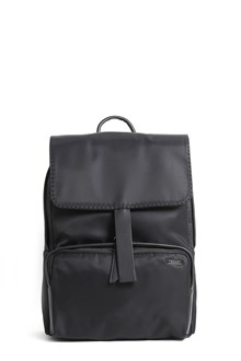 ZANELLATO Leather and nylon back pack with front zip compartment