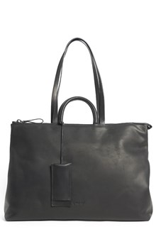 MARSÈLL Leather shopping bag with 2 legnths of straps