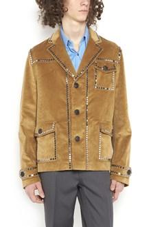 PRADA LINEA ROSSA velvet jacket with studs