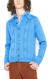 PRADA cardigan with geometric embroidery