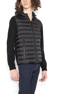 """PRADA LINEA ROSSA """"pelleovo"""" quilted jacket with knitted sleeves"""