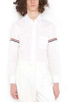 """THOM BROWNE shirt from Thom Browne: classic button down """"poplein"""" shirt with details on seeves"""