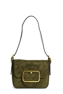 TORY BURCH Leather suede 'sawyer' shoulder bag with gold accents