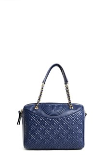 TORY BURCH Leather 'Fleming' duffel bag with gold chain