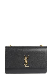 SAINT LAURENT Leather large 'key chain' gold hardware bag