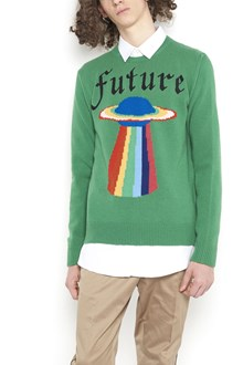 GUCCI wool sweater with paint in front
