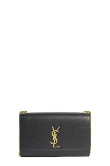 SAINT LAURENT Leather medium 'key chain' with gold hardware