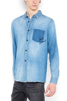 SAINT LAURENT shirt from Saint Laurent: denim shirt with logo on pocket