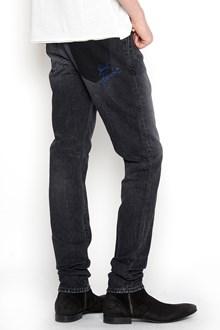 SAINT LAURENT skinnt fit denim with lurex logo beck