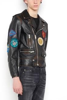 SAINT LAURENT Multi patch biker jacket