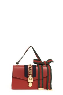 GUCCI 'Sylvie' leather shoulder bag with web bow