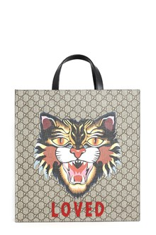GUCCI Tote with patch and gucci logo