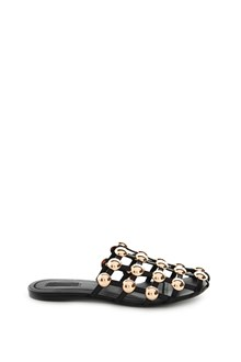 ALEXANDER WANG Leather 'Amelia' slipper with round studs
