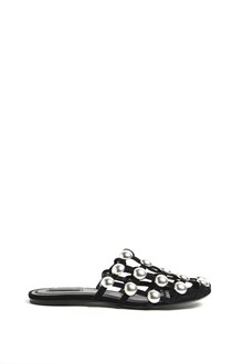 ALEXANDER WANG Leather 'Amelia' slippers with flat studs