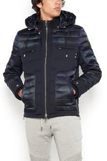 BALMAIN camouflage padded jacket with detachable hood