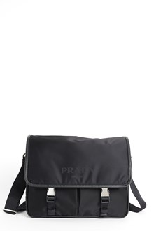 PRADA Nylon and leather crossbody bag