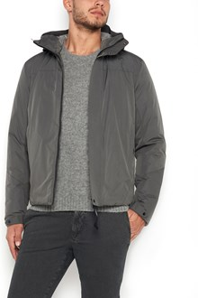 C.P. COMPANY zipped long jacket with pockets and hood