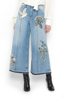 ALEXANDER MCQUEEN jeans with embroidery
