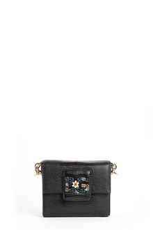 DOLCE & GABBANA Leather 'millenials' with strap and embellished logo