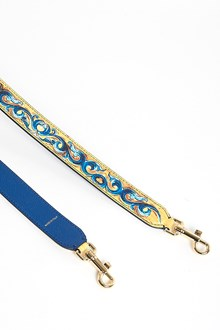 DOLCE & GABBANA 'Maiolica' printed leather shoulder strap