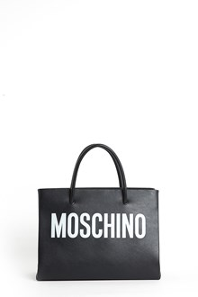 MOSCHINO Small tote with contrasting logo and crossbody strap