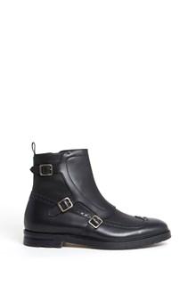 ALEXANDER MCQUEEN Leather booties with buckles