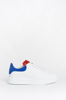 ALEXANDER MCQUEEN Leather sneakers with oversize sole and red and blue details